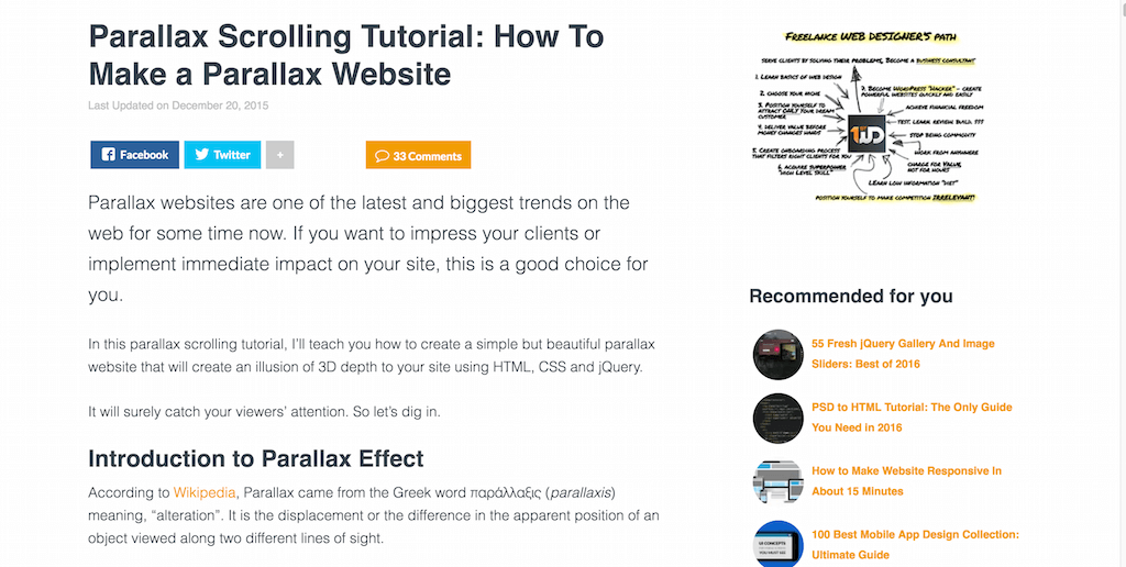 Parallax Scrolling Tutorial How To Make a Parallax Website