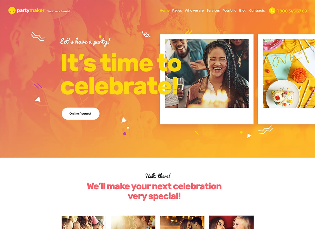 PartyMaker | Event Planner WordPress Theme