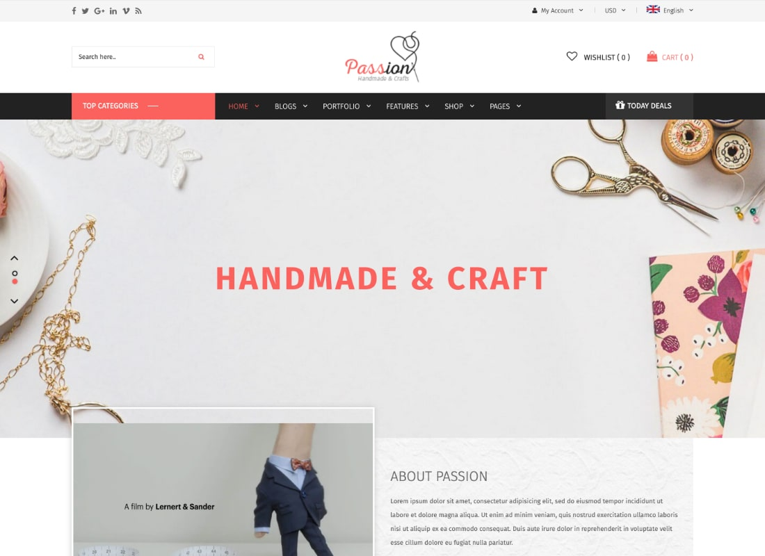 Passion | Handmade & Craft WooCommerce WordPress Theme