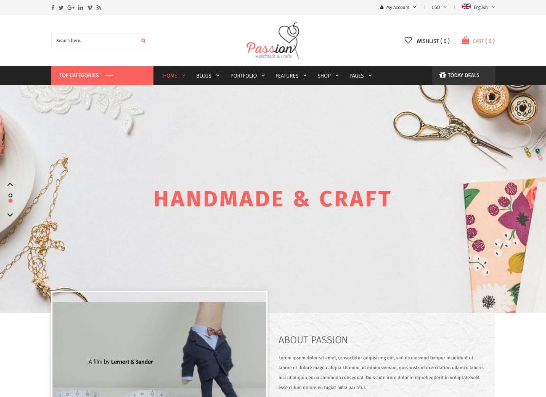 Passion | Handmade & Craft WooCommerce WordPress Theme