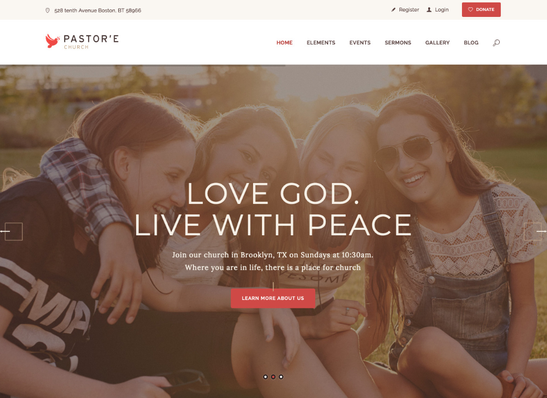 Pastor'e | Church, Religion & Charity WordPress Theme