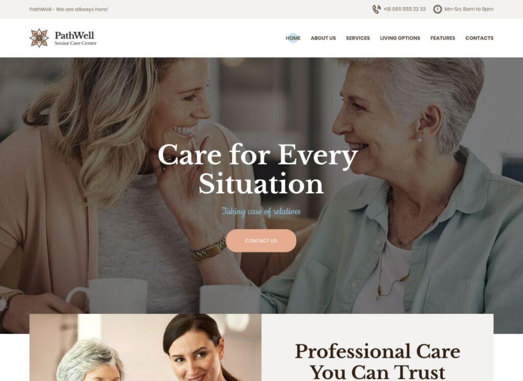 PathWell   A Senior Care Hospital WordPress Theme