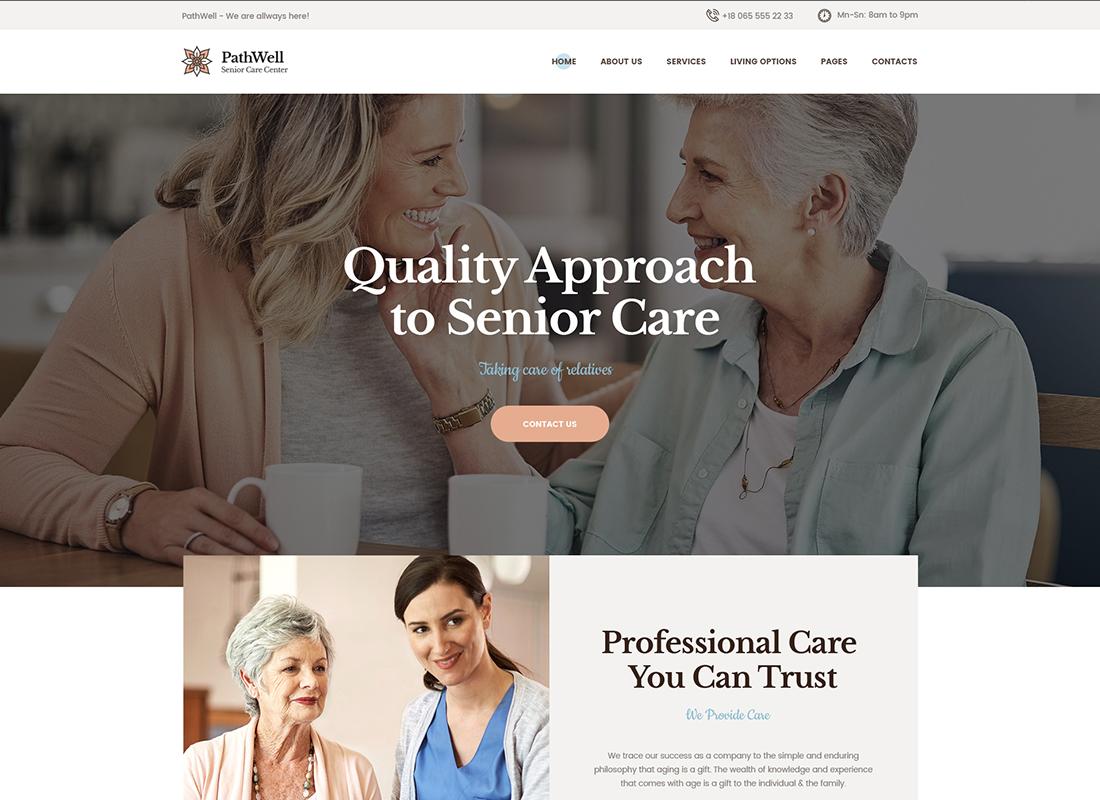 PathWell - A Senior Care Hospital WordPress Theme