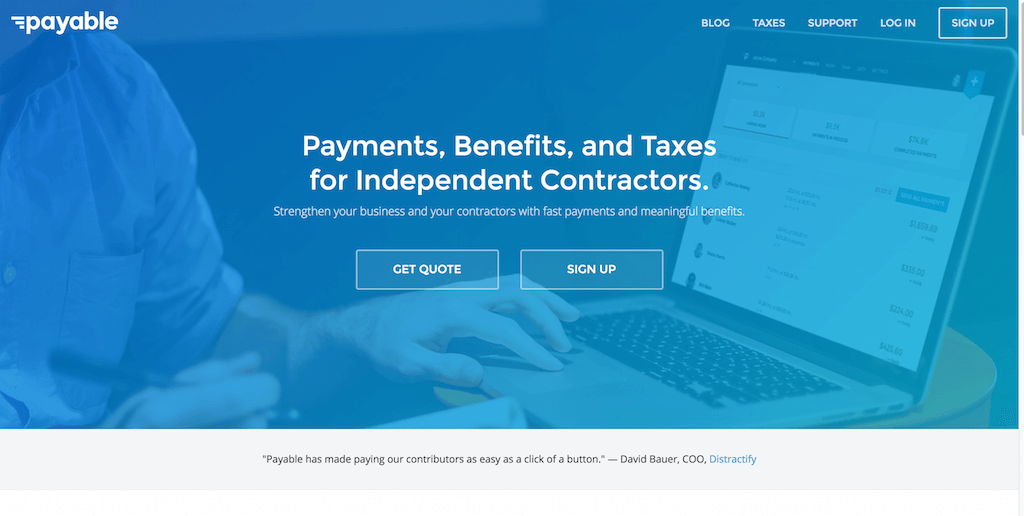 Payable Contractor Payments Benefits Taxes