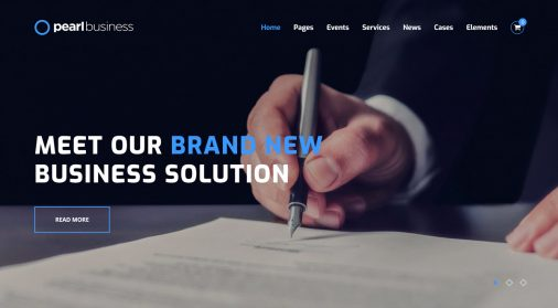 Pearl WordPress Theme Review FT