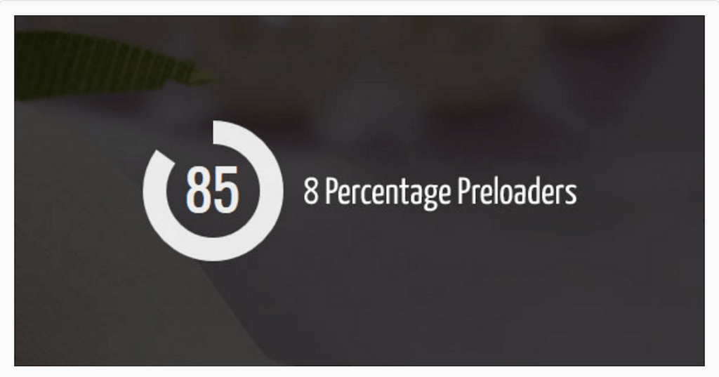 Percentage Preloader JavaScript CodeCanyon