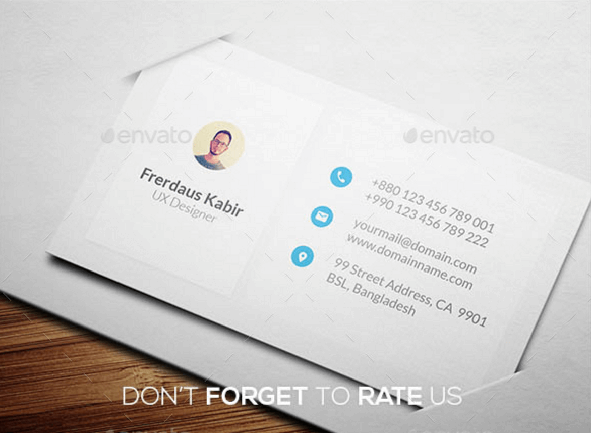 Top Free Business Card PSD Mockup Templates In Colorlib - Personal business cards template