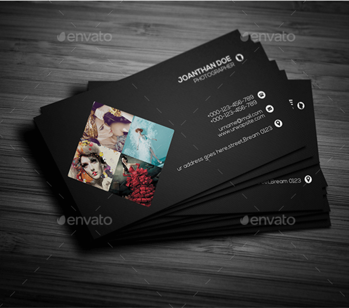 Pics for gt photography business card designs for Portrait business cards