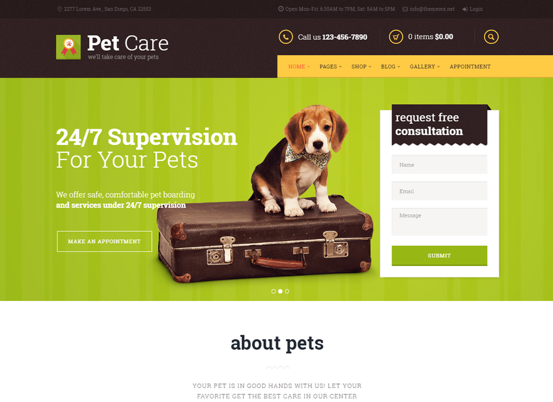 Pet Care - Grooming, Hotel, Hospital & Shop