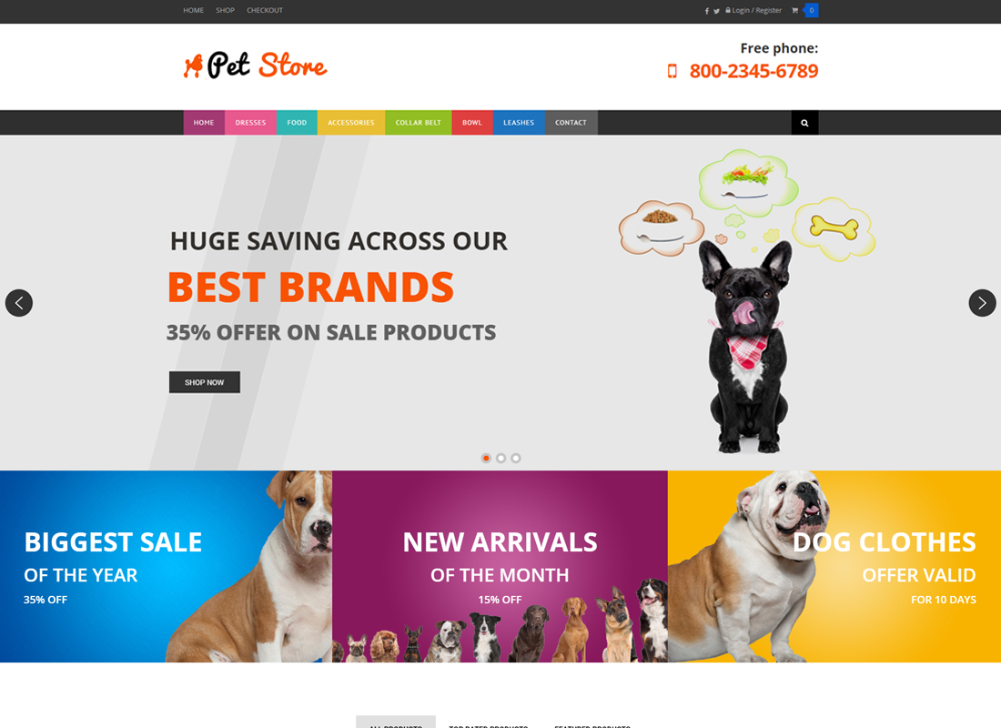 Pet Store - WordPress WooCommerce Theme for pets and vets