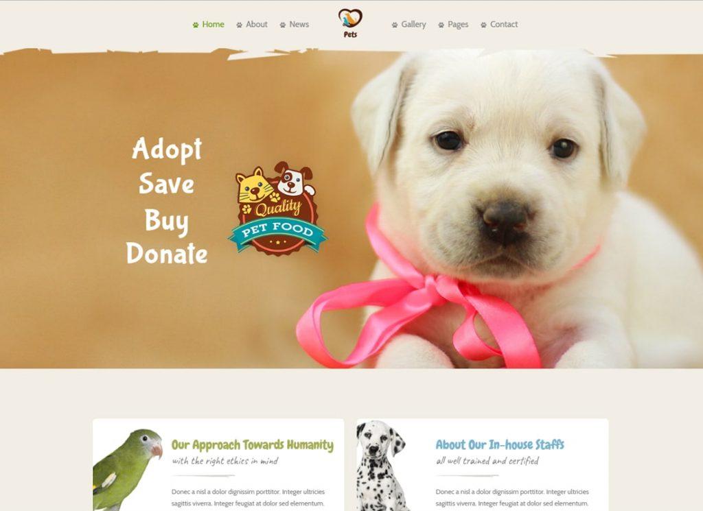 Monde des animaux |  Pet Sitter et Pet Shop, Thème WordPress Pet Care