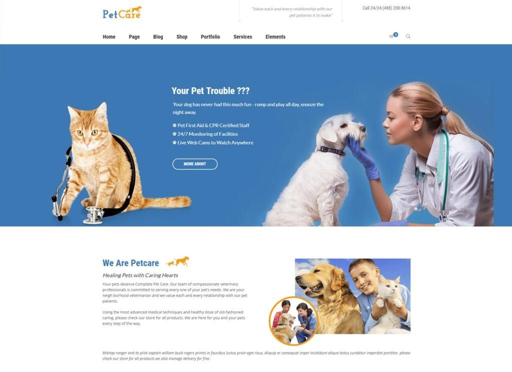 Petcare | Pet Shop and Pet Care WordPress Theme