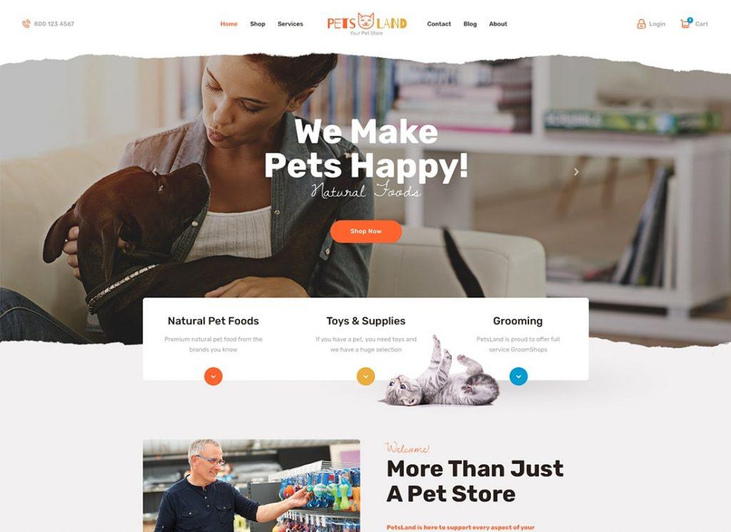 Pets Land | Pet Shop & Veterinary WordPress Theme