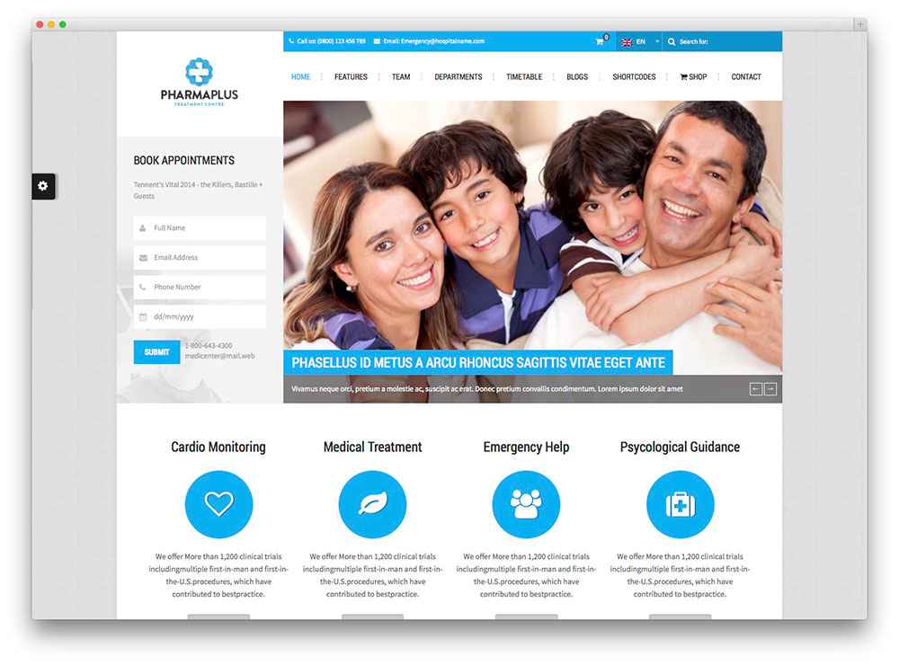 PharmaPlus medical theme