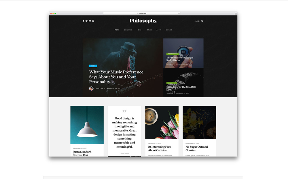 Philosophy WordPress Theme