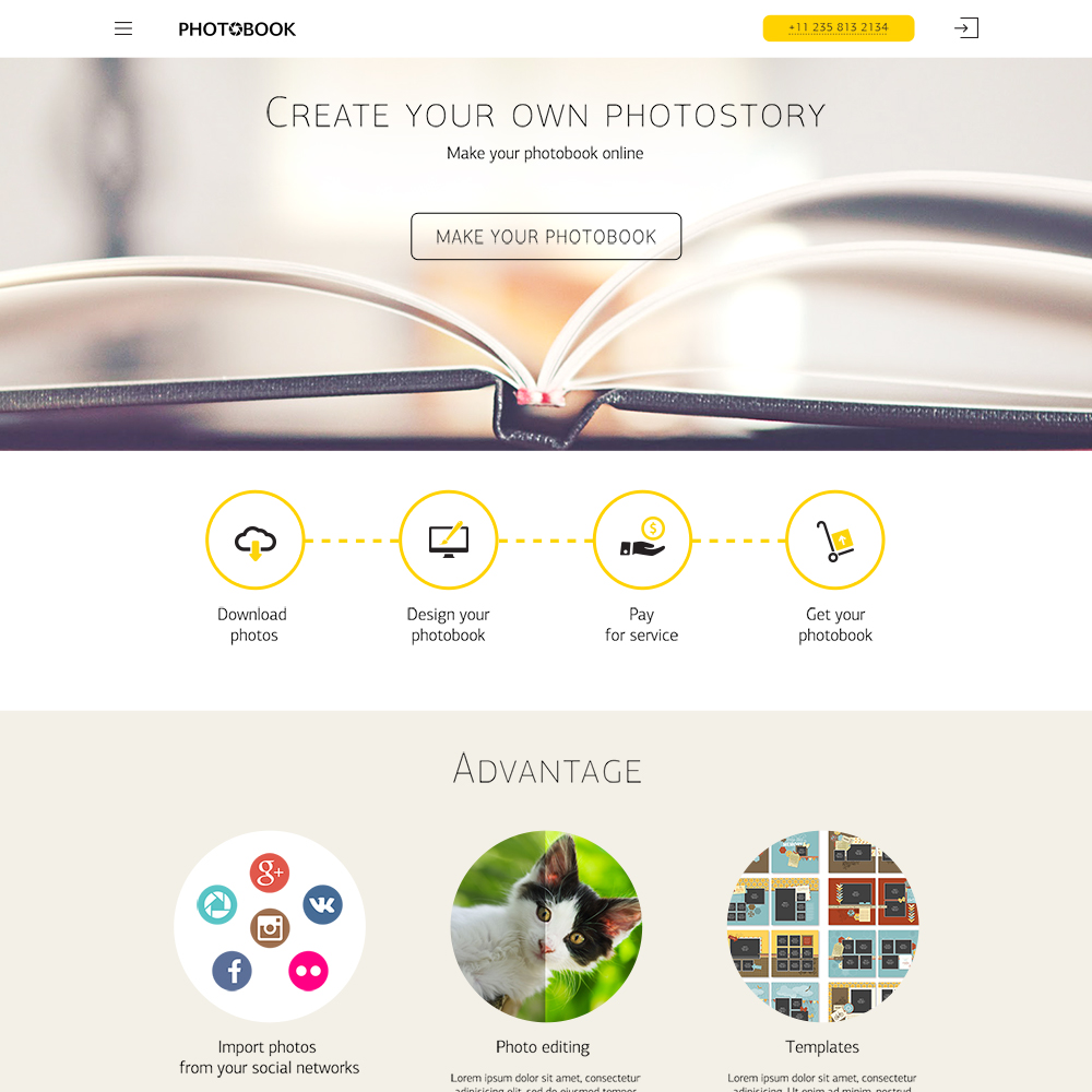 Photobook Personal Free PSD Template