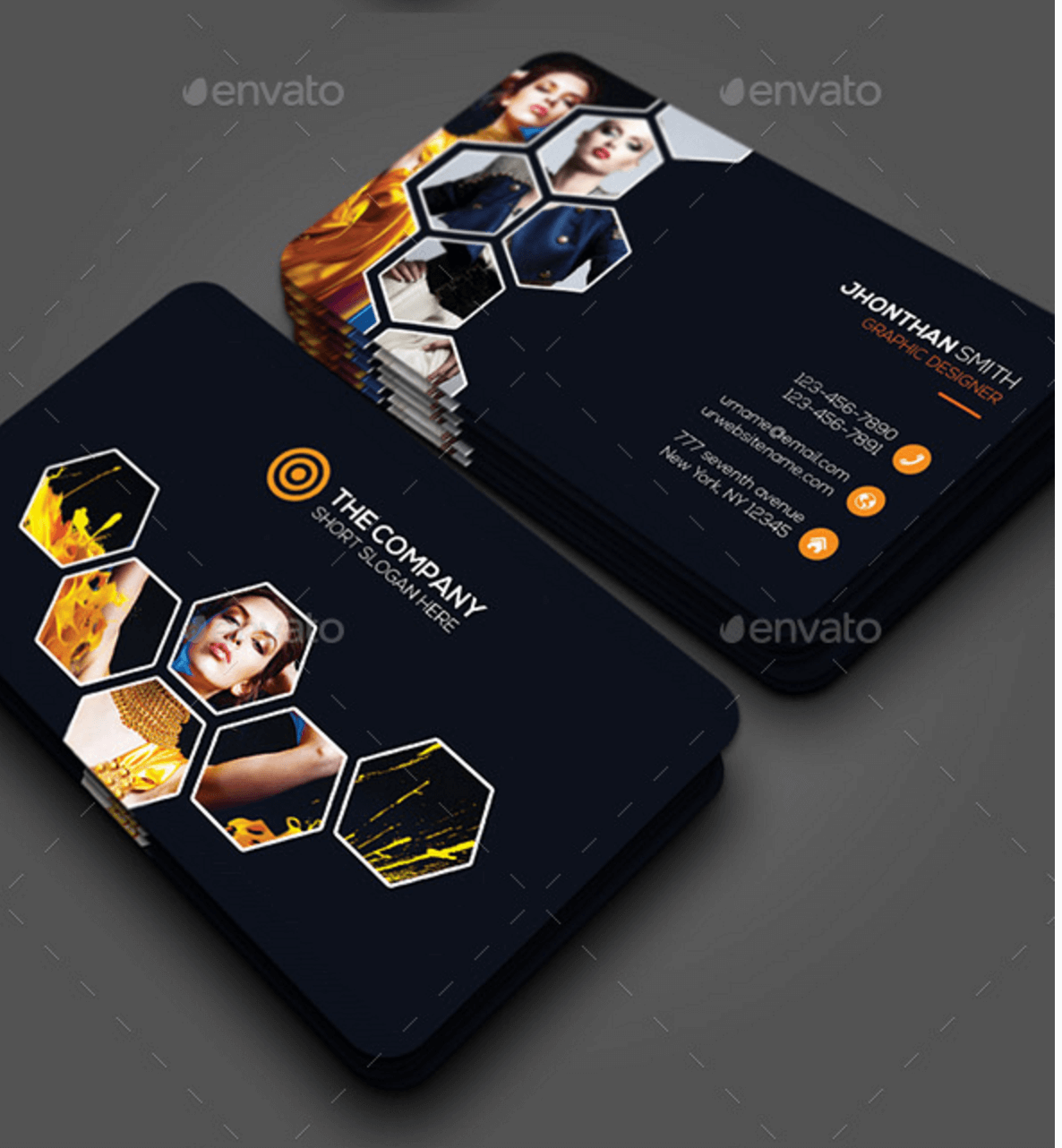 Top Free Business Card PSD Mockup Templates In Colorlib - Photography business card template