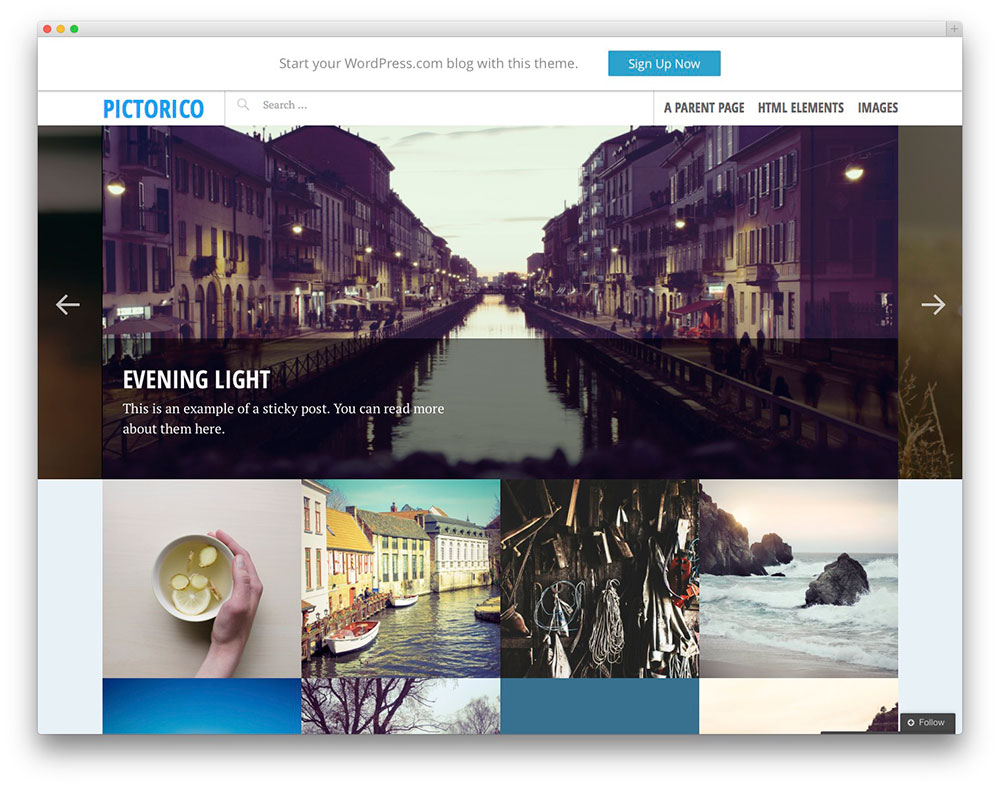 Pictorico Photography theme