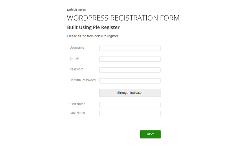 Best free plugins to build custom registration form in wordpress pie register thecheapjerseys Images