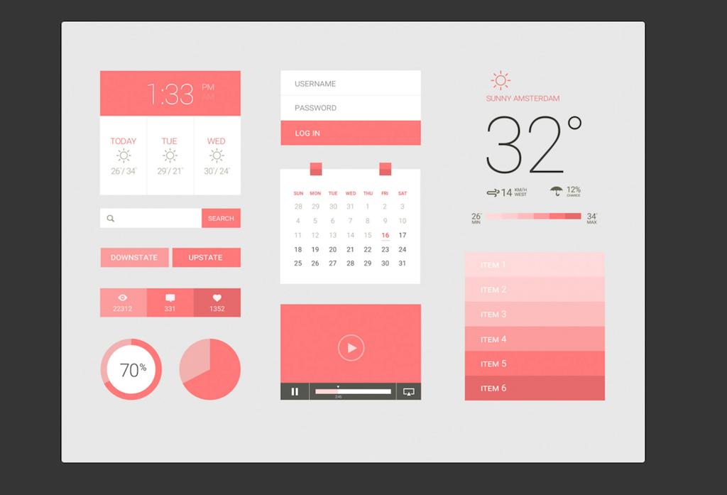 Pink Flat UI