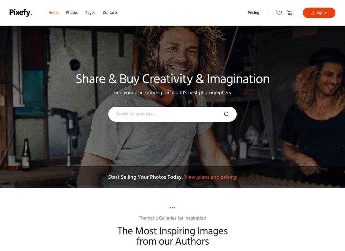 Pixefy | Stock Photography Marketplace WordPress Theme