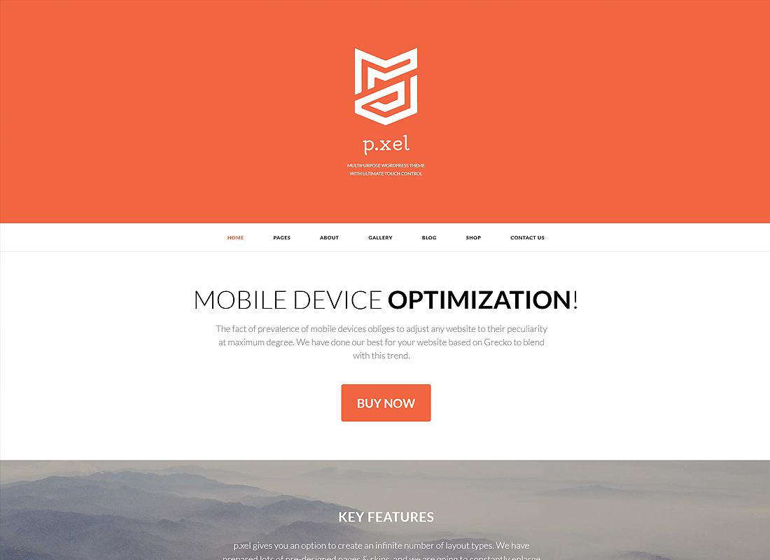 Pixel - A Modern Multi-Purpose WordPress Theme