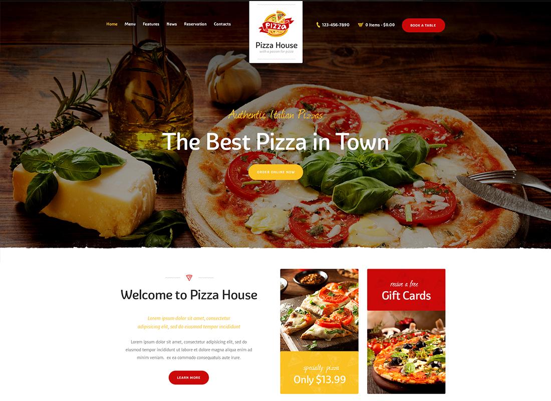 Pizza House - Restaurant / Cafe / Bistro WordPress Theme