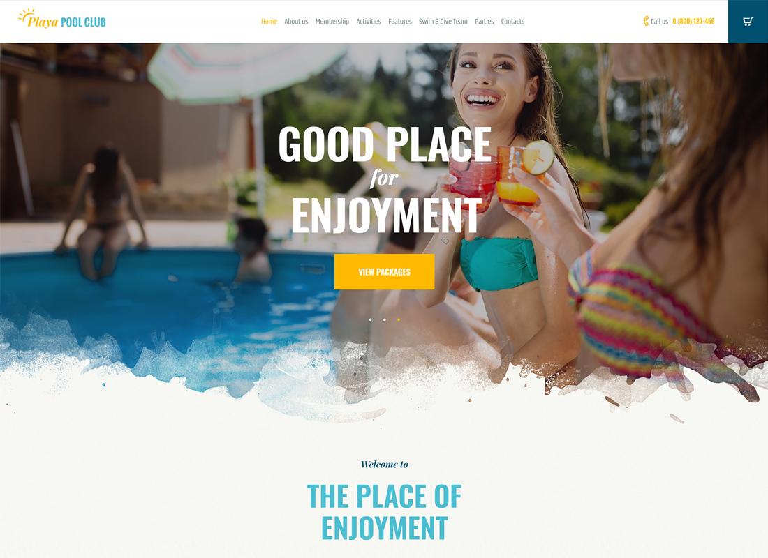 Playa | City Beach & Pool Club WordPress Theme