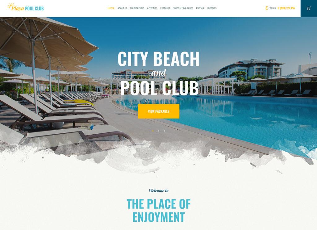 Playa   City and Private Beach & Pool Club WordPress Theme