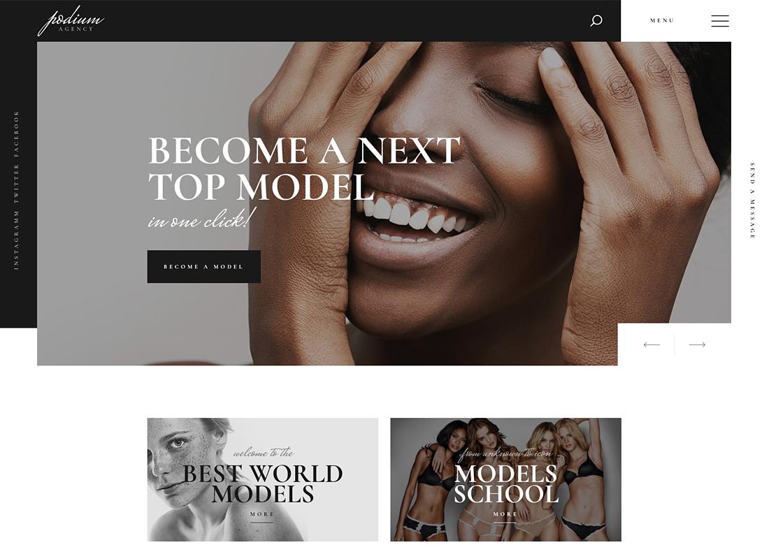 Podium - Model Agency WordPress Theme