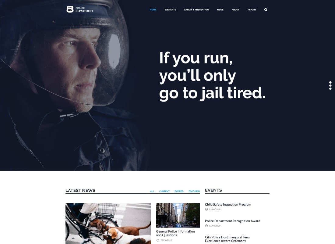 Police-Fire Department | Police & Fire Department and Security Business WordPress Theme