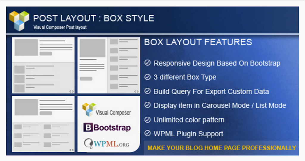 Post Layout Box Style for WPBakery Page Builder WordPress