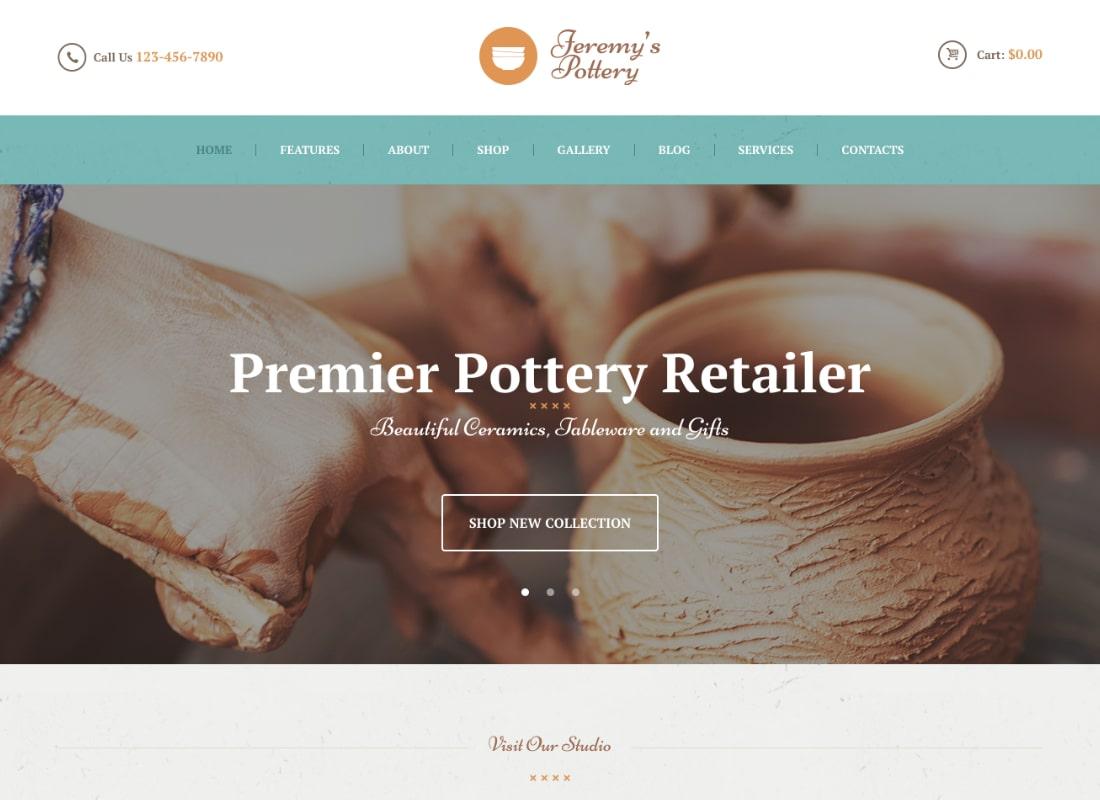 Pottery and Ceramics Handmade WordPress Theme