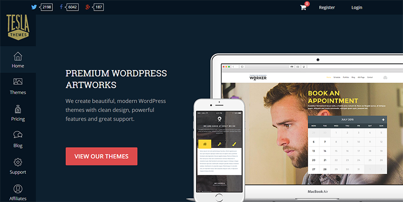 Premium WordPress Themes Club I TeslaThemes