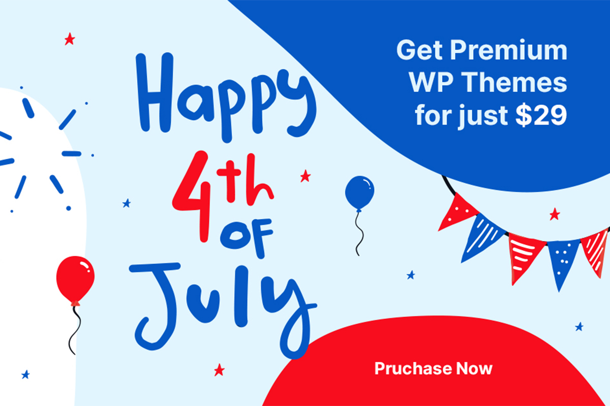 50% OFF For Premium WordPress Themes On 4th July Envato Sale