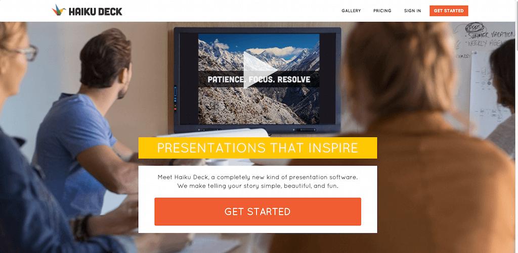 Presentation Software Online Presentation Tools Haiku Deck