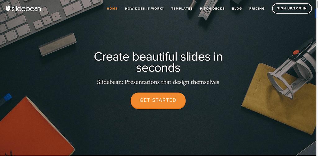 Presentation software Slidebean Online presentation tools