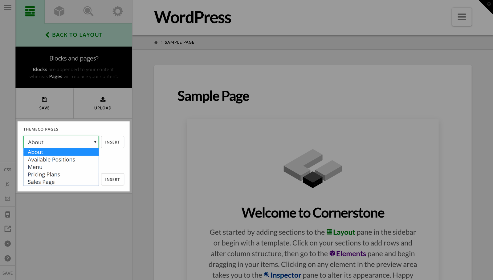 Cornerstone Page Templates