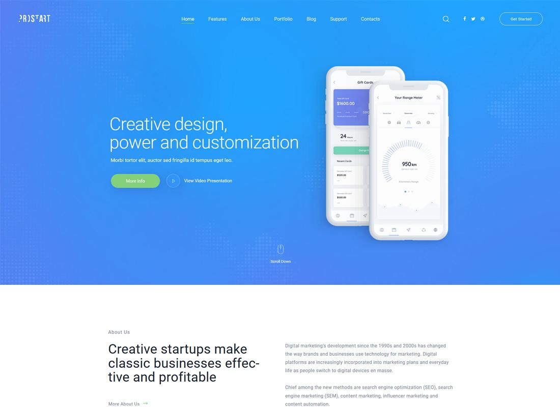 ProStart - Startup & Corporate WordPress Theme