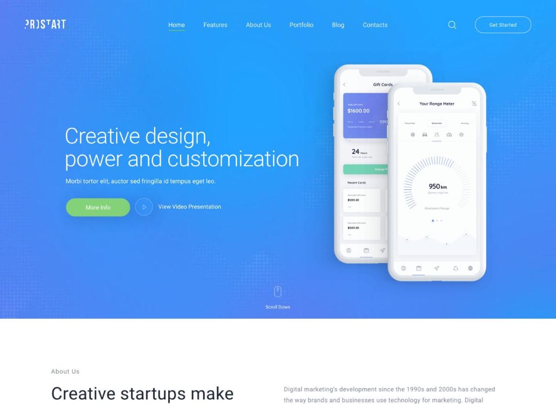ProStart | Startup & Corporate Business WordPress Theme