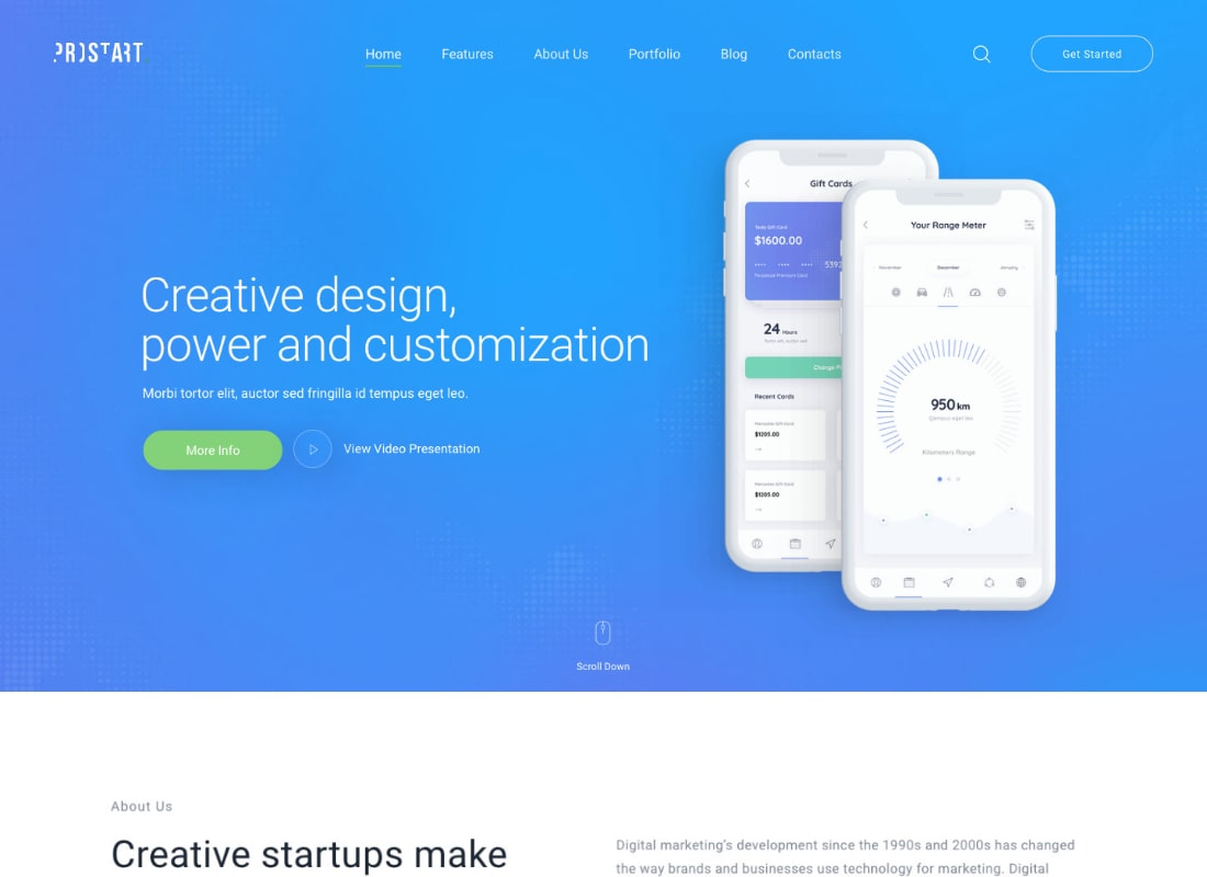 ProStart | Startup & Corporate Business WordPress Theme