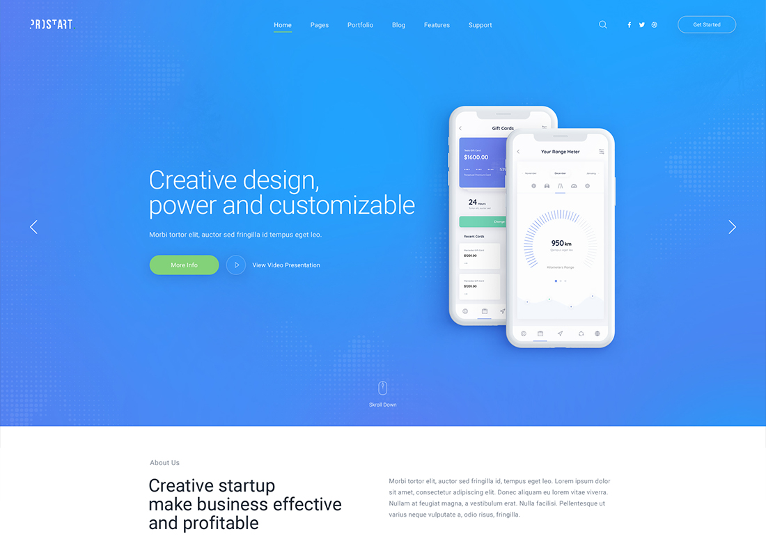 ProStart - Startup & Corporate WordPress Theme