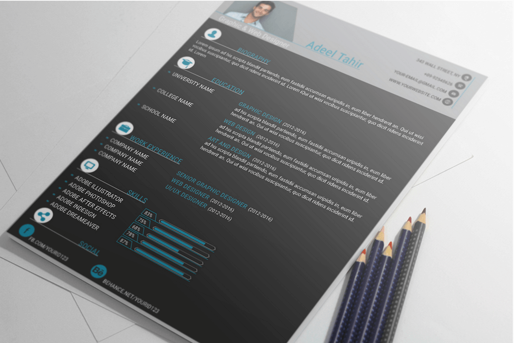 Best free resume templates in psd and ai in 2017 colorlib professional resume and cover letter by adeel tahir yelopaper Image collections