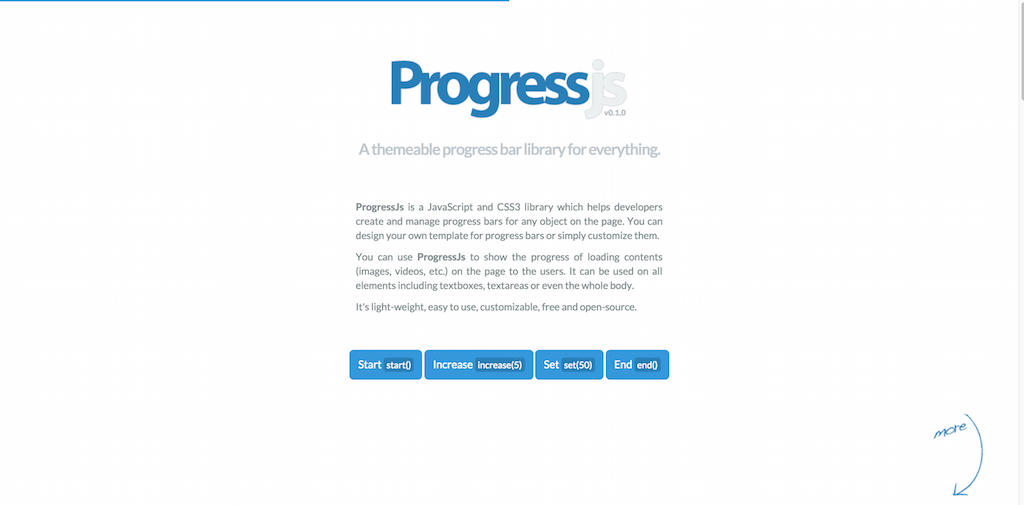 Progress.js Themeable progress bar library