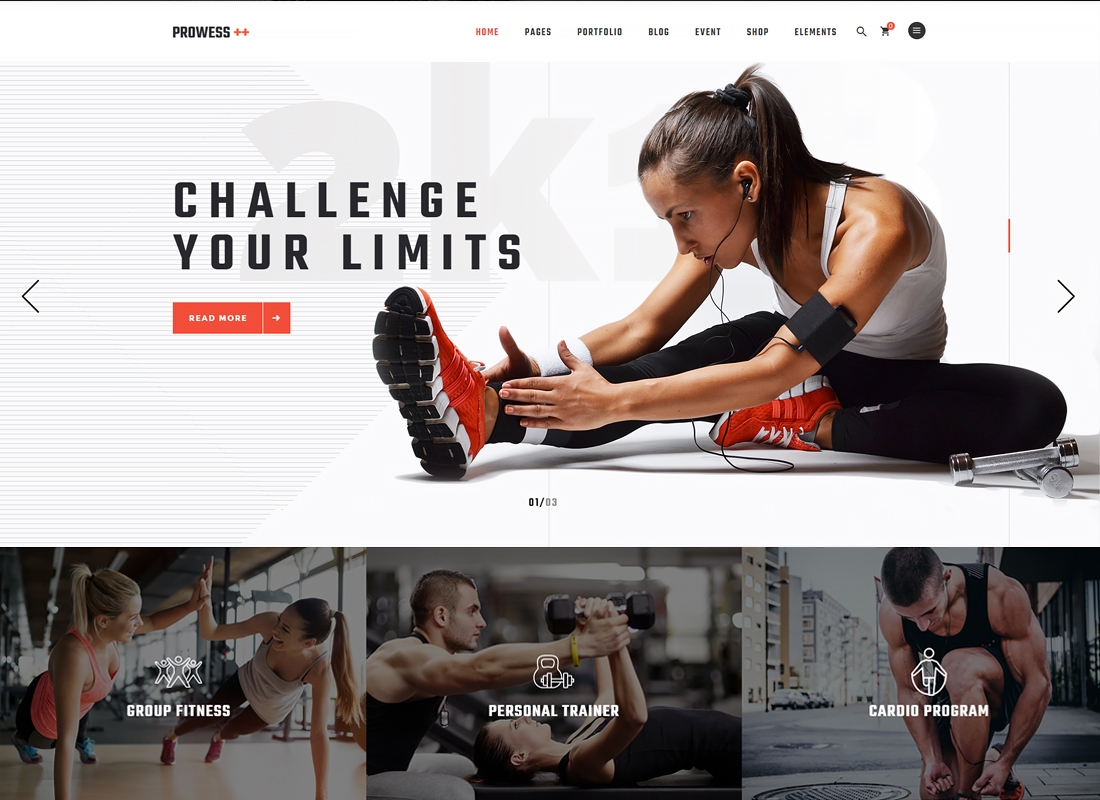 Prowess | Fitness and Gym WordPress Theme