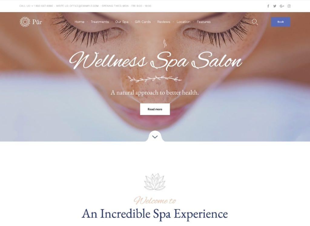 Pur | Spa Massage WordPress Theme