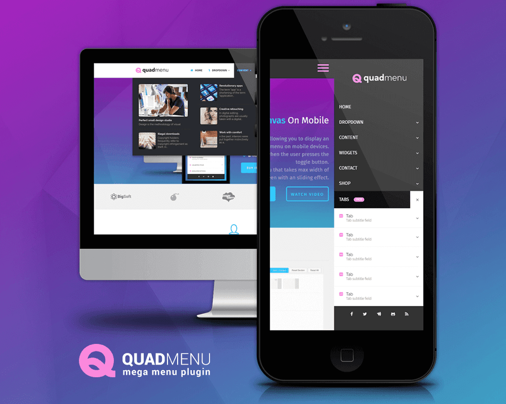 QuadMenu is one of the latest free mega menu plugins for WordPress. This plugin allows you to create mega menus, tabs menus and carrousel menus in a simple ...