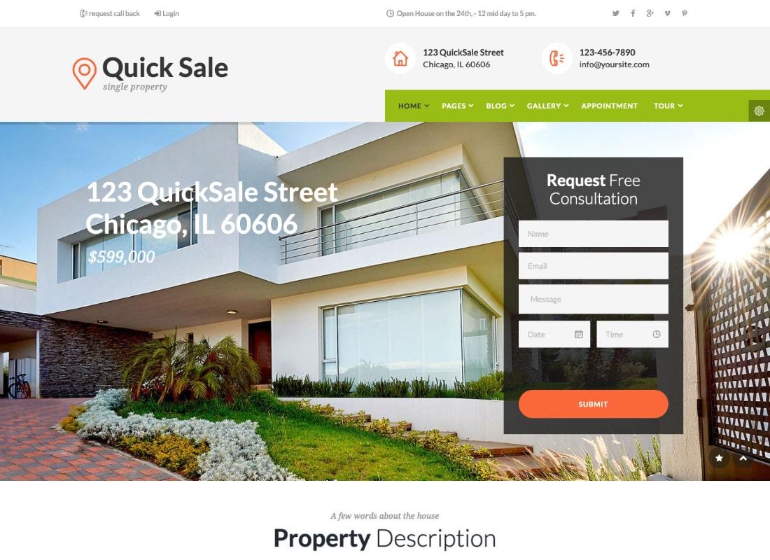 Quick Sale | Real Estate HTML Theme