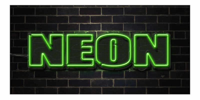 Quick Tip- Create a Neon Text Effect in Photoshop