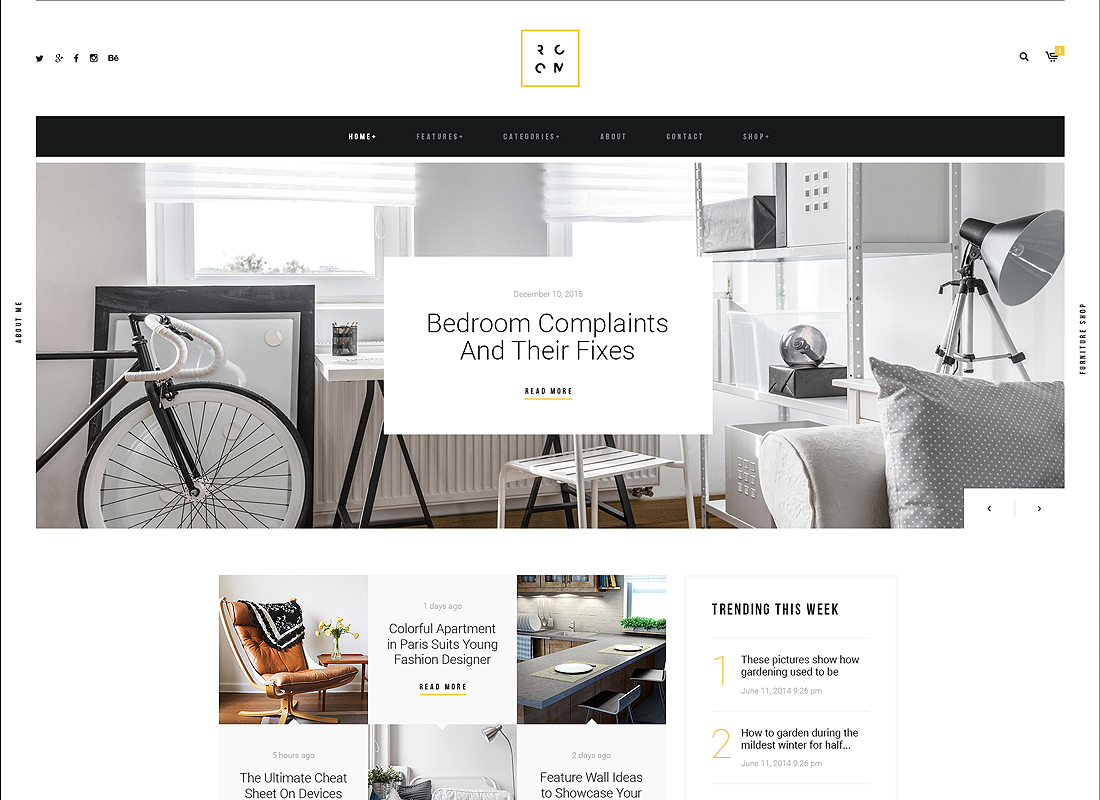 ROOM   A Refined Interior Design Blog & Furniture Shop WordPress Theme